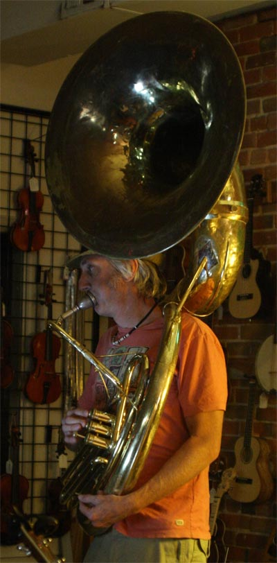Scott with Sousaphone